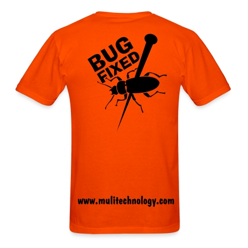 Orange Bug Fixed Cotton Tee - Men's T-Shirt