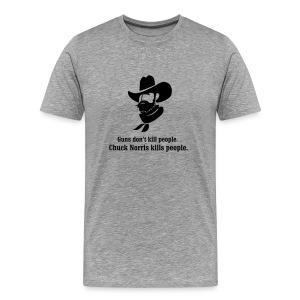 Chuck Norris Guns T-Shirt - Men's Premium T-Shirt