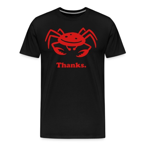 Thanks Black - Men's Premium T-Shirt