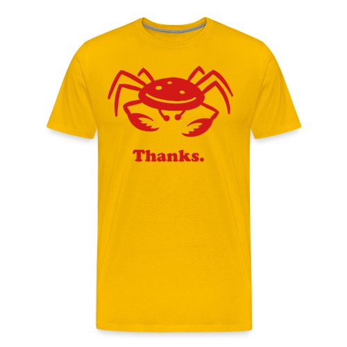 Thanks Yellow - Men's Premium T-Shirt