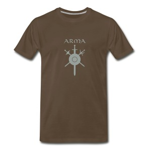Silver on Brown front logo-t - Men's Premium T-Shirt