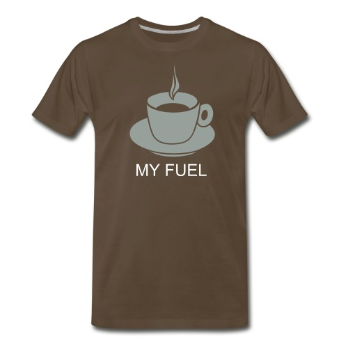 I run on Coffee - Men's Premium T-Shirt