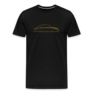 Heavy UrSaab Black and Gold - Men's Premium T-Shirt