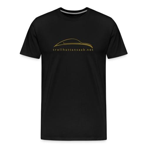 Heavy UrSaab Black and Gold - Men's Premium T-Shirt