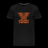 T-Shirts ~ Men's Premium T-Shirt ~ Tyger front/back (burning)