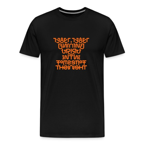 Tyger front/back (burning) - Men's Premium T-Shirt