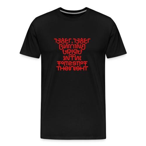 Tyger front/back (fierce) - Men's Premium T-Shirt