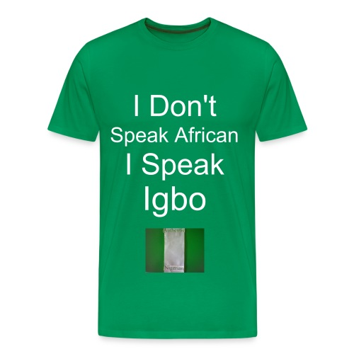 I Speak Igbo Heavyweight cotton T-Shirt - Men's Premium T-Shirt