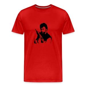 Chuck with Gun - Men's Premium T-Shirt