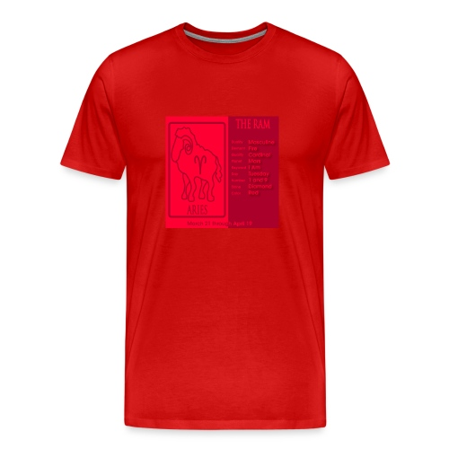 Aries Color Square Zodiac Tee - Men's Premium T-Shirt