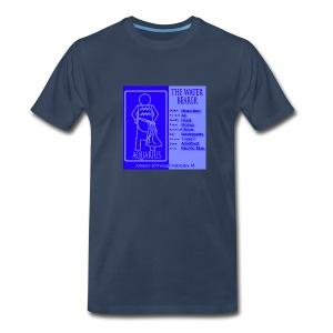 Aquarius Color Square Zodiac Tee - Men's Premium T-Shirt