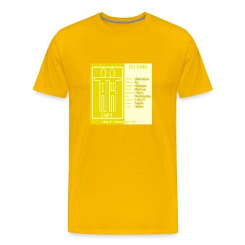 Gemini Color Square Zodiac Tee - Men's Premium T-Shirt