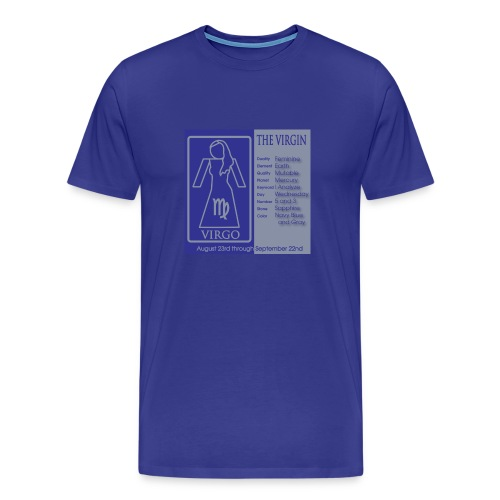 Virgo Color Square Zodiac Tee - Men's Premium T-Shirt