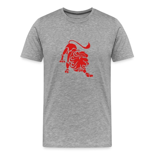 Heavyweight Cotton T-Shirt (Leo Print) - Men's Premium T-Shirt