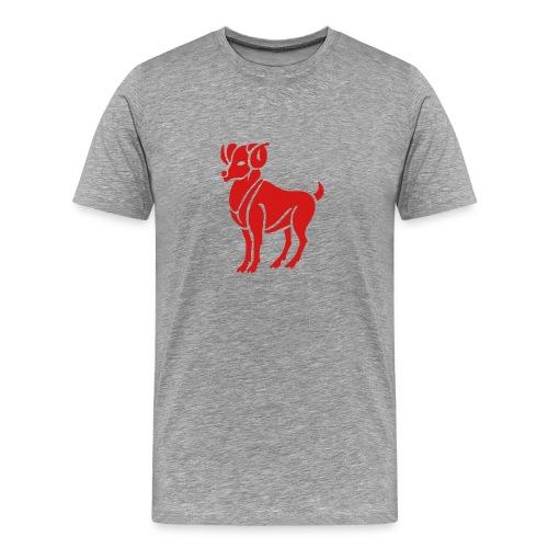 Heavyweight Cotton T-Shirt (Aries Print) - Men's Premium T-Shirt