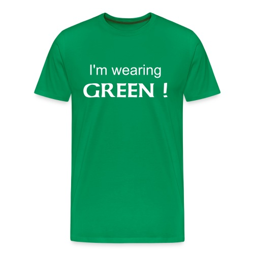 Obvious Color- Green - Men's Premium T-Shirt