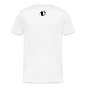 www.biglohiphop.com Men's T-Shirt (White/Black) - Men's Premium T-Shirt