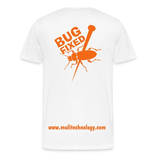 White Bug Fixed Cotton Tee - Men's Premium T-Shirt