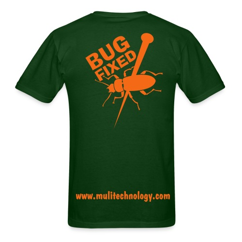 Forrest Green Bug Fixed Cotton Tee - Men's T-Shirt