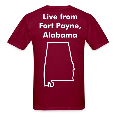 Name on front and Fort Payne design on back - Men's T-Shirt