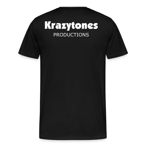 KRAZYTONES MENS BLACK AND WHITE TEE - Men's Premium T-Shirt