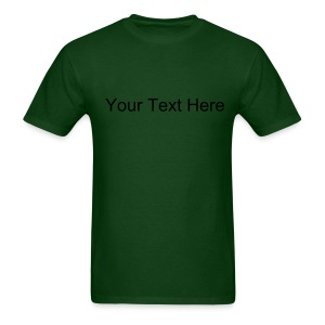 Custom Text Heavyweight Cotton T-Shirt - Men's T-Shirt