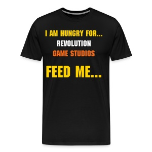 I am hungry for video games - Men's Premium T-Shirt
