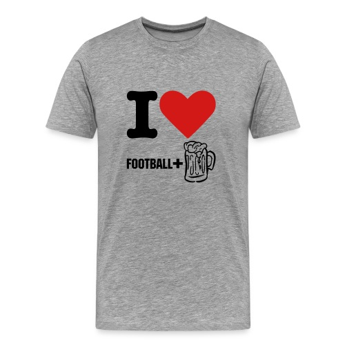 I Love Football & Beer! - Men's Premium T-Shirt