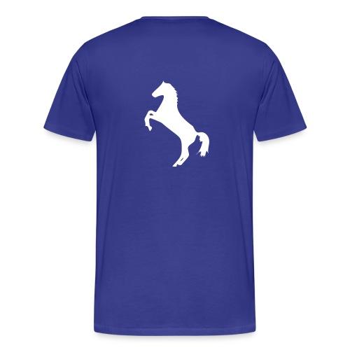 HAH Simple Blue Cotton T-Shirt - Men's Premium T-Shirt