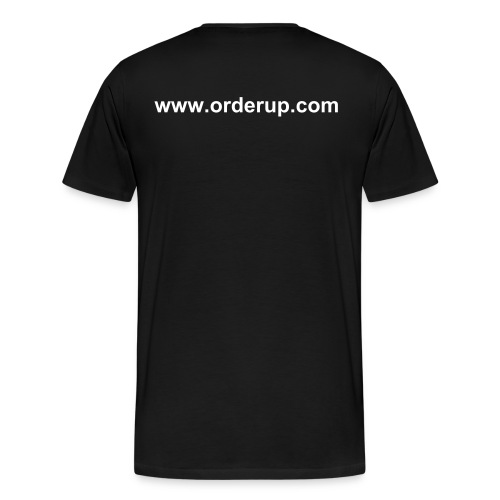 (Front) I'M HUNGRY! (Back) www.orderup.com - Men's Premium T-Shirt