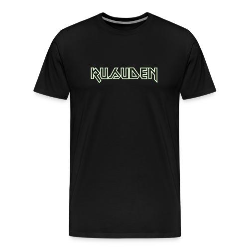 Rusuden MAIDEN-font glow-in-the-dark - Men's Premium T-Shirt