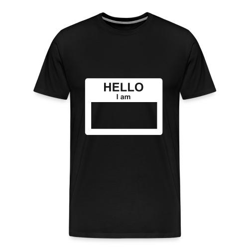 Custom Text Name Shirt - Men's Premium T-Shirt