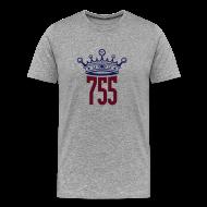 T-Shirts ~ Men's Premium T-Shirt ~ Grey Home Run King