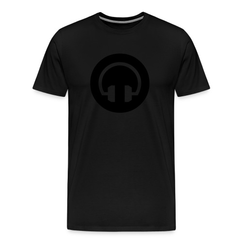 Look Closer: Black on Black - Men's Premium T-Shirt
