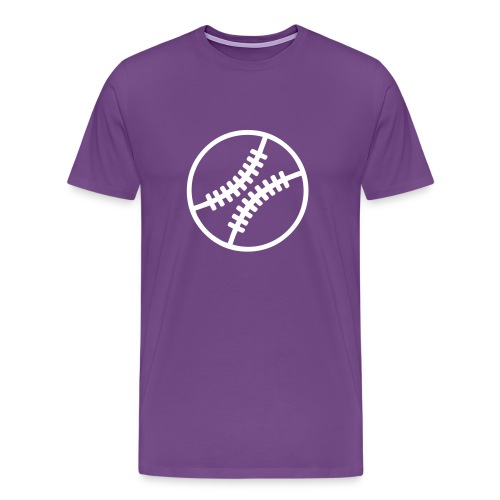purple baseball tee - Men's Premium T-Shirt