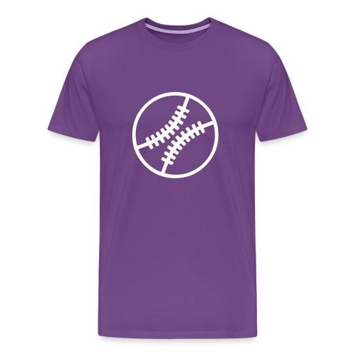 purple baseball tee - Men's Premium T-Shirt