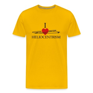Heliocentrism for men who like yellow - Men's Premium T-Shirt