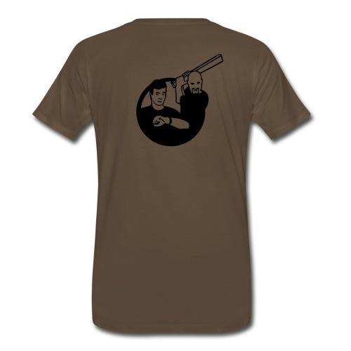 Kirk vs. Picard - Logo Back, by Request - Men's Premium T-Shirt