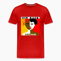 One Race Human Red T-shirt