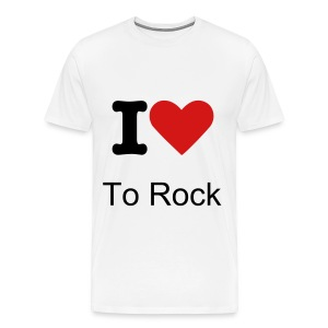 I Love To Rock T-Shirt - Men's Premium T-Shirt