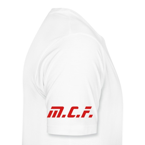 Men's Premium T-Shirt - M.C.F. on right