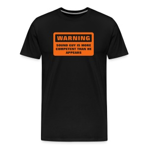 Warning - More Competent - Men's Premium T-Shirt