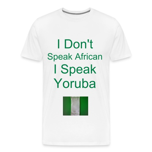 I Speak Yoruba Heavyweight cotton T-shirt - Men's Premium T-Shirt