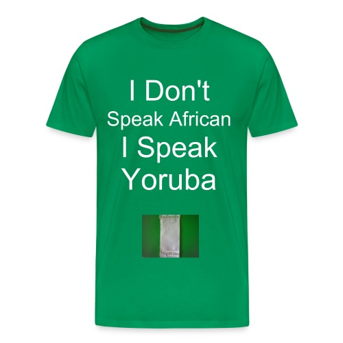 I Speak Yoruba w/backside Heavyweight cotton T-shirt - Men's Premium T-Shirt