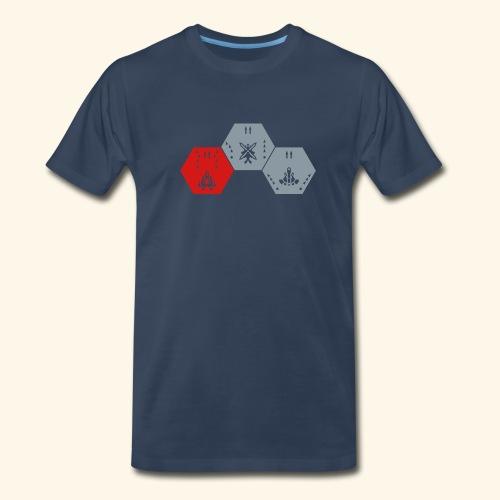 DDP-Ships, silverprint - Men's Premium T-Shirt