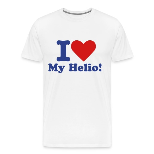 I Love My Helio! Blue & Red - Men's Premium T-Shirt