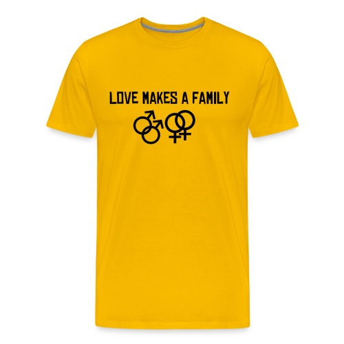 Love makes a family - Men's Premium T-Shirt