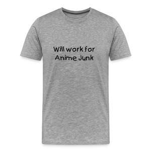 Will work for anime - Men's Premium T-Shirt