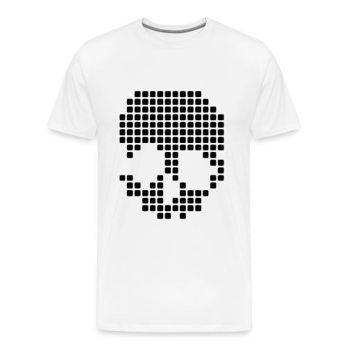 Pixel Skull T Shirt - Men's Premium T-Shirt