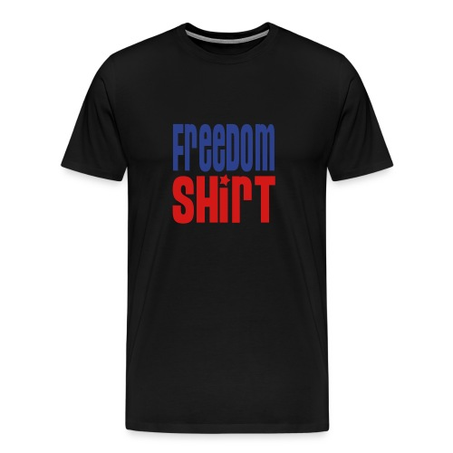Men's Heavyweight Cotton T-Shirt, FREEDOM SHIRT - Men's Premium T-Shirt